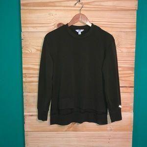 Joy Lab Olive Green Workout Sweatshirt Side Slits